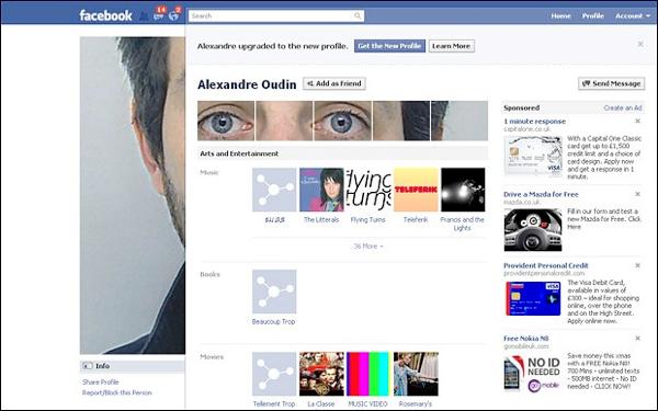 Hack de fotos no perfil do Facebook