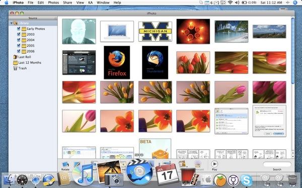 Dock do OSX, mostra os programas disponíveis