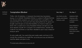 Screenshot do blog de Benjamin Adam