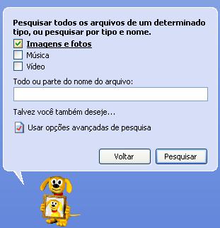 Cãozinho farejador no Windows Xp