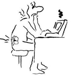 Dor nas costas na frente do computador