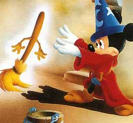 Mickey no clássico Fantasia