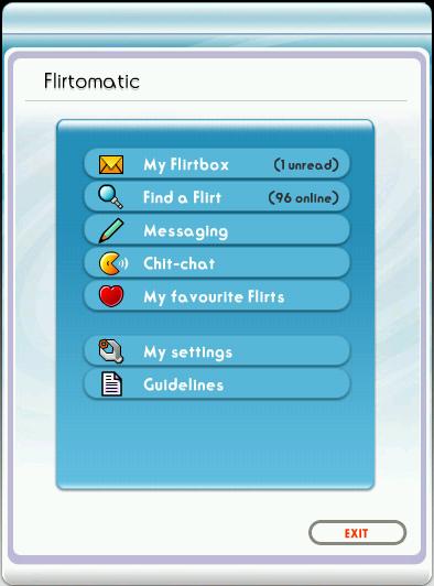 Início do Flirtomatic Web