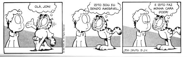 Garfield tentando ser amigável