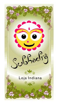 Logomarca da loja indiana Subhadra
