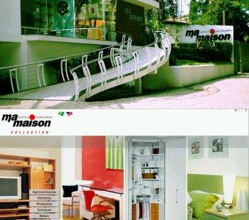 Contraste entre a fachada da loja Ma Maison e seu website