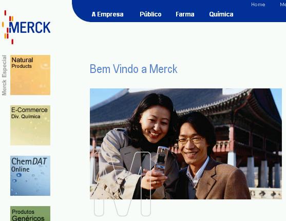 Home da Merck no Brasil