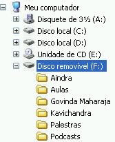 Pen drive no Windows Explorer