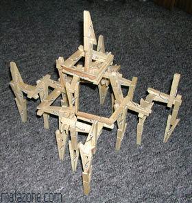 Pregador como brinquedo