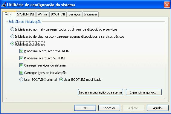 Utilitário de configuração do Windows