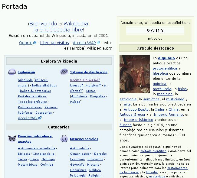 Wikipedia em espanhol