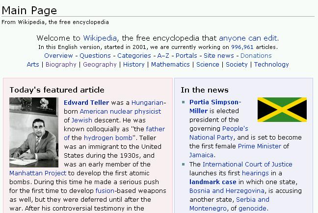 Wikipedia em Inglês
