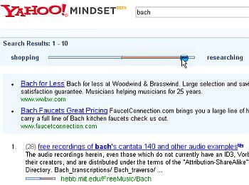 Yahoo Mindset: ordene as buscas