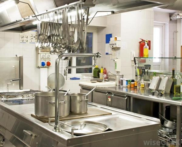 Professional restaurant kitchen