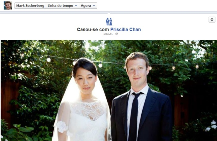 Zuckerberg casou